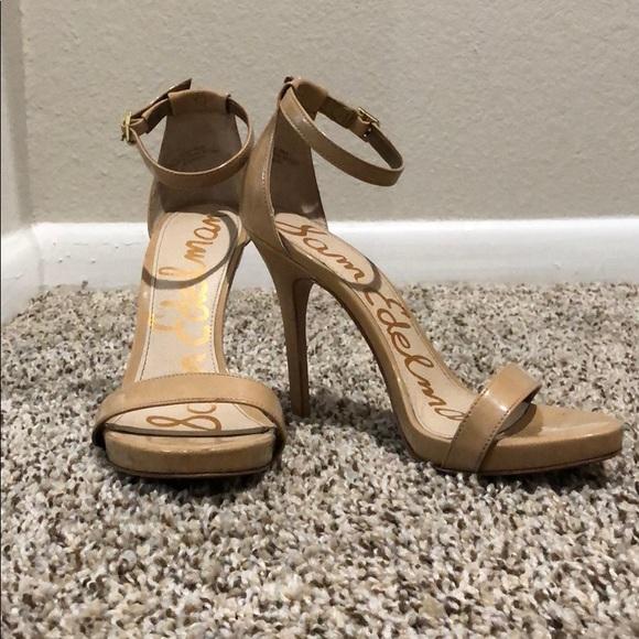 ed27a1ce192f Sam Edelman Ariella ankle strap sandal in beige. M 5a97554e1dffdaca4fe189b5